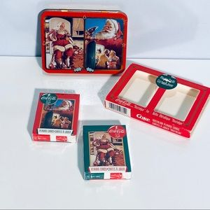 New Sealed Coca Cola Playing Cards Tin Box 1995
